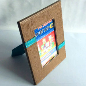 Matt Brown Leather Photo Display Frame pictures & photos