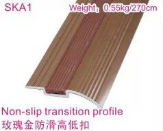 Rose Golden Slip-Proof Flooring Accessories Multi-Functional Reducer pictures & photos