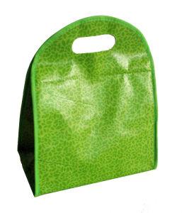 Plastic Handle Non Woven Lamination 4 Bottle Wine Bag