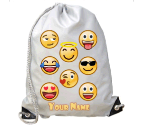 210d Cool Gray Children Emoji Gymbag pictures & photos