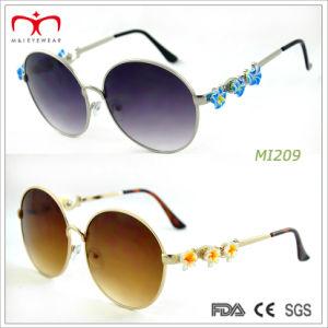 Fashion Style Ladies Metal Sunglasses with Flower Decoration (MI207-MI209) pictures & photos