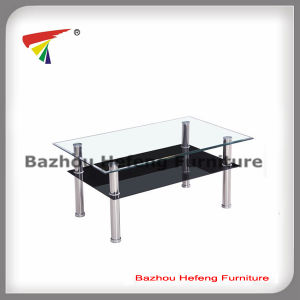 Cheap Living Room Table Furniture Glass Coffee Table (CT085) pictures & photos