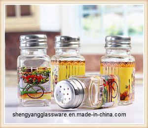 Printed Condiment Bottle / Salt Spice Jar/Spice Jar Glass pictures & photos