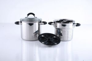 Stainless Steel Pasta Pot Insert with Silicone Handle pictures & photos