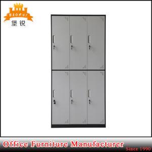 Jas-028 Modern Design Thin Edge 6 Door Compartment Steel/Metal/Iron Wardrobe Locker pictures & photos