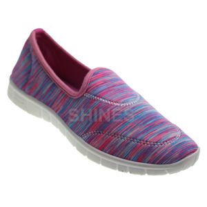 Elastic Fabric Injection Shoes with Colourful Print pictures & photos