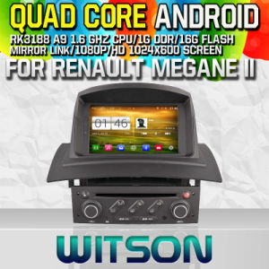 Witson S160 for Renault Megane II Car DVD GPS Player with Rk3188 Quad Core HD 1024X600 Screen 16GB Flash 1080P WiFi 3G Front DVR DVB-T Mirror-Link (W2-M098) pictures & photos