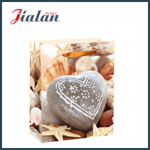 Wholesale Heart-Shaped Stone 4c Printed Shopping Gift Paper Bag pictures & photos