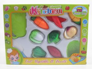 Kitchen Play Set of Cutting Food & Vegetable Toys for Kids pictures & photos