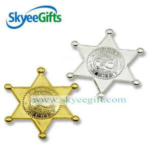 Hexagram Metal Gold and Silver Badge for Wholesale pictures & photos