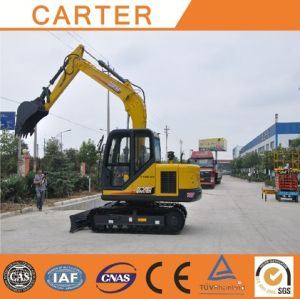 CT85-8b (8.5T) Backhoe Excavator with Rubber Tracks/Pads pictures & photos