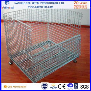 Foldable Steel Wire Mesh Containers for Warehouse pictures & photos