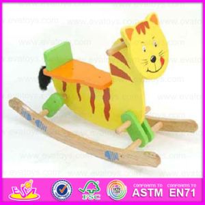 2015 Cute Wooden Rocking Horse Toy for Kids, Lovely Safe Eco-Friendly Sport Walking Horse Toy, Wooden Rocking Horse Toy Wjy-8003 pictures & photos