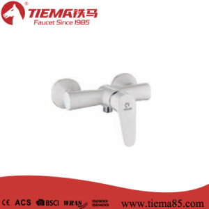 White Plated Ceramic Cartridge Single Lever Shower Faucet (ZS40102A-W)