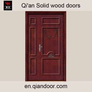 Solid Wood Oak Door with Double Leaf pictures & photos