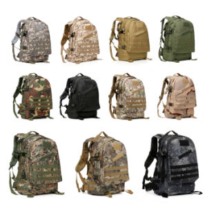 Tactical 3D Waterproof Camouflage Backpack Camping Hiking Military Rucksack pictures & photos
