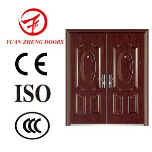 Safety Iron Main Double Door Design pictures & photos
