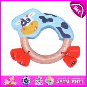 2015 New Arrival Cheap Baby Hand Rattle Toy, Wooden Musical Instrument Baby Rattle Toy, Funny Play Baby Rattle Squeaky Toy W07I120 pictures & photos