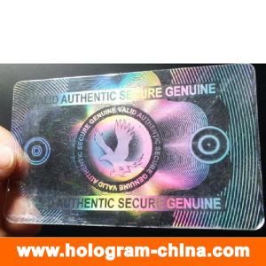 Transparent Anti-Fake 3D Laser ID Card Overlay Hologram pictures & photos