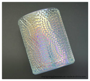 Wholesale Light Colorful Ion Plating Clear Glass Candle Holders pictures & photos