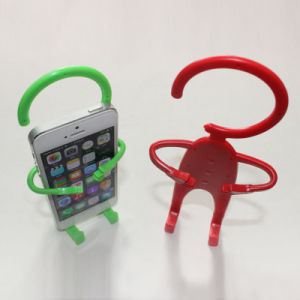 Flexible Cute Human Shape Silicone Cell Phone Holder pictures & photos