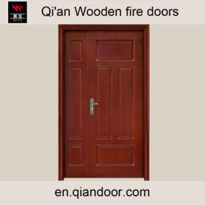 Sapele Veneer Double Wooden Fire Front Door pictures & photos