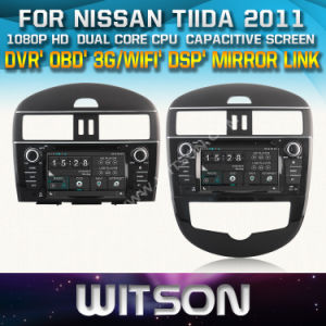 Witson Car DVD for Nissan Tiida 2011 (W2-D8905N) Car DVD GPS 1080P DSP Capactive Screen WiFi 3G Front DVR Camera pictures & photos
