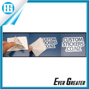 White Customized Die Cut Vinyl Stickers for Car Window pictures & photos