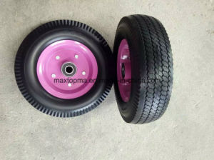 410-6 Flat Free PU Foam Wheelbarrow Wheel pictures & photos