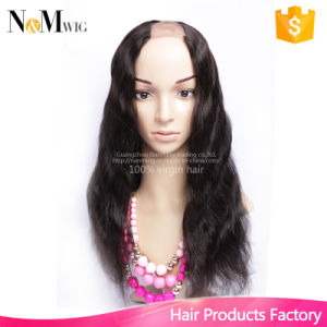 Peruvian Human Hair Clip Lace Front U Part Wigs Half Machine Made & Half Hand Tied Made Method, 125g-225g Hair for Wig Making pictures & photos