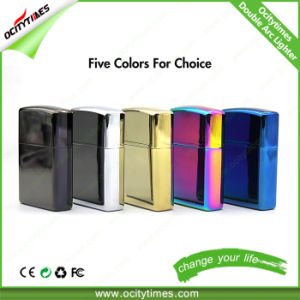 Electronic Cigarette Flameless USB Rechargeable Doubel Arc Lighter pictures & photos
