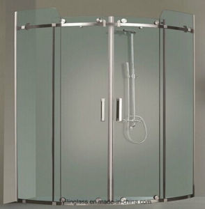Tempered Acid Etched Bathroom Glass pictures & photos