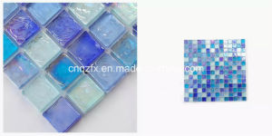 Hot Melt Glass Mosaic Tiles for Bathroom, Kitchen and Swimming Pool, etc