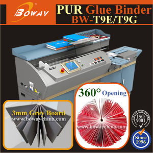 300 Books/Hour Hot Melt EVA Pur 2 in 1 Glue Perfect Book Binding Machine pictures & photos