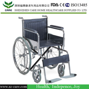 Powder-Coated Steel Wheelchair, Standard Economic Manual Wheelchair pictures & photos