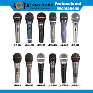 Vocal Metal Wired Microphone with 4m Cable for Karaoke, Speech, Teaching