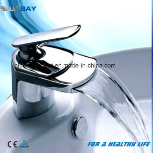 Chrome Finished Brass Body Bathroom Waterfall Basin Tap pictures & photos