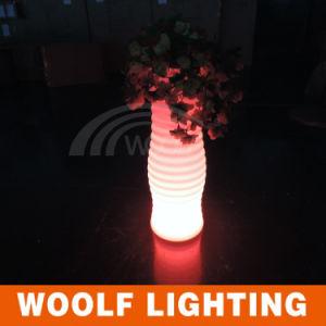 LED Flower Pot Plastic Flower Pot LED RGB Pot pictures & photos