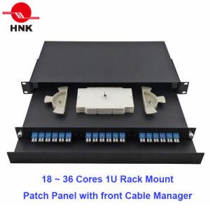 1u 36 Cores Rack Mount Fiber Optic Patch Panel pictures & photos