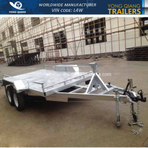 High Quality Hot Dipped Galvanized Heavy Duty Tandem Car Trailer pictures & photos