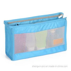 Cosmetic Bag Make up Bag Made of Polyester and Mesh pictures & photos