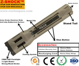 LED Flashlight Stun Gun for Self-Defense with RoHS pictures & photos