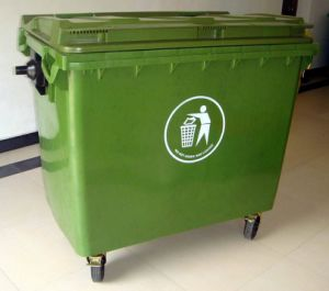 Injection HDPE 660L Dustbin pictures & photos
