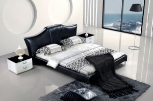 Simple and Elegant Genuine Leather Bed pictures & photos