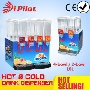 4-Bowl 10L Hot and Cold Juice Dispenser pictures & photos