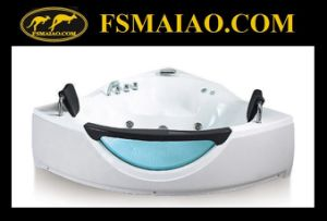 New Design Corner-Positioned Acrylic Jacuzzi Bathtub (BA-8603) pictures & photos