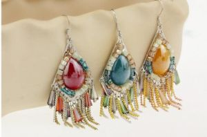 Not Natural Turquoise Stone Ethnic Earrings pictures & photos