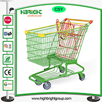 America Style Metal Shopping Trolley Cart pictures & photos