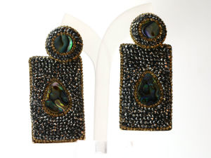 New Design Crystal Black Earrings Jewelry