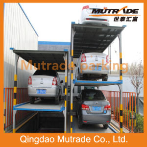Three Floors Pit Four Post Hydraulic Parking Lift (PFPP-3) pictures & photos